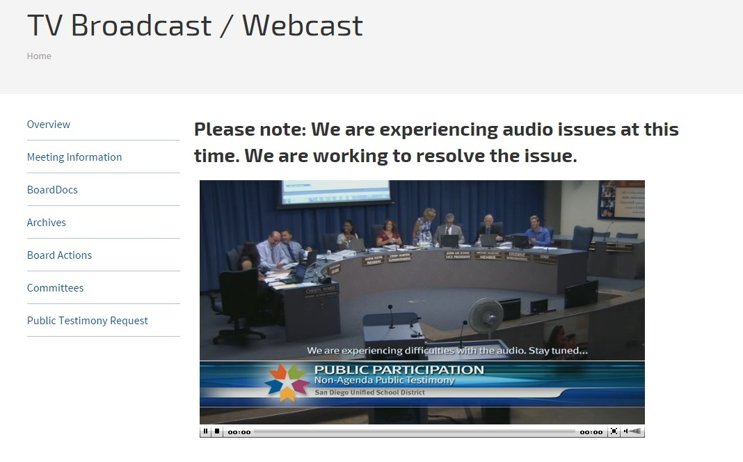 San Diego Unified Media Blackout District Deeds