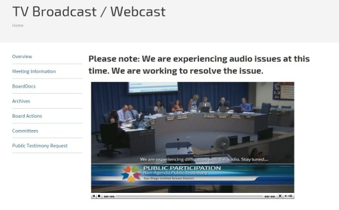San Diego Unified Board Meeting 9-15-15