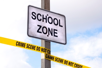 school-crime-scene
