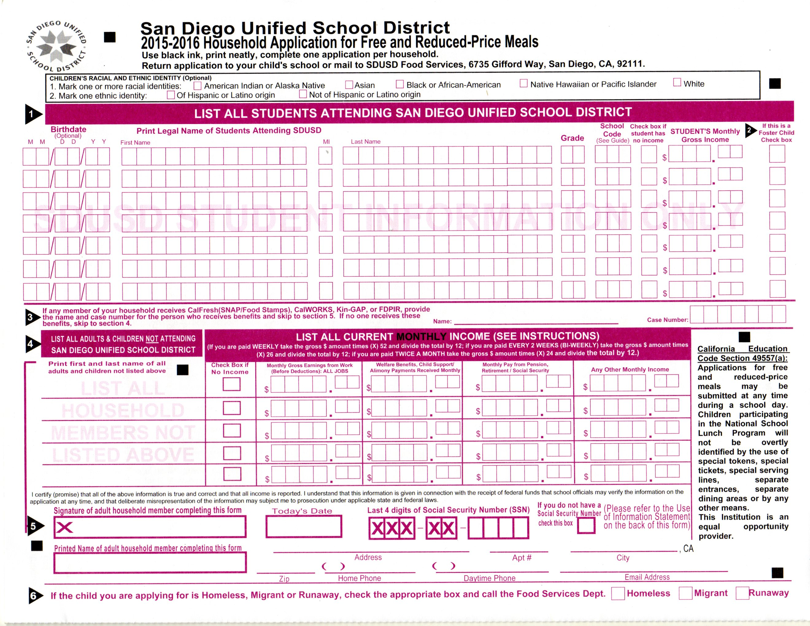 free lunch report revealed san diego unified s 110 000 trustee