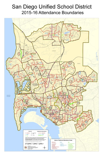 San Diego Unified Abuse Report Map - 4-11-16