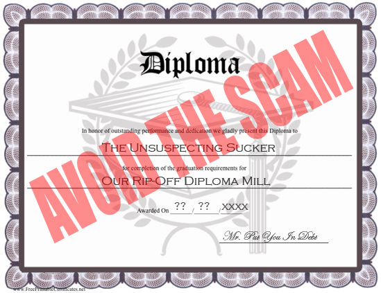 Diploma Mill Scam