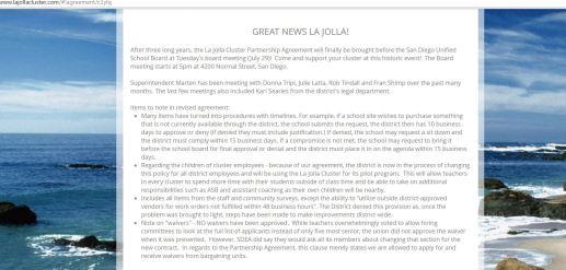 La Jolla Cluster Agreement clip