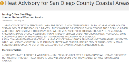 Excessive Heat Notice 2